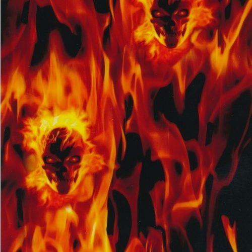sk21 ad cr ation hydrographie flamme rouge jaune skull. Black Bedroom Furniture Sets. Home Design Ideas